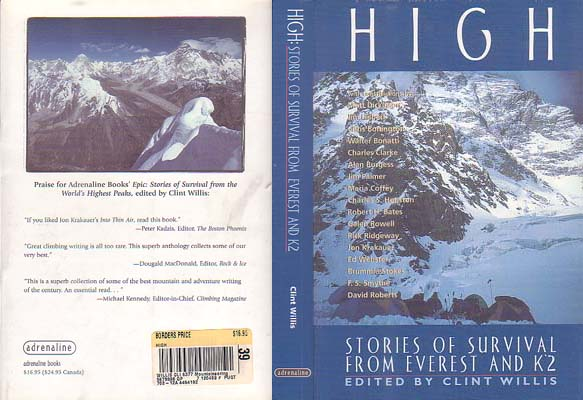 High: Stories of Survival from Everest and K2: Willis, Clint