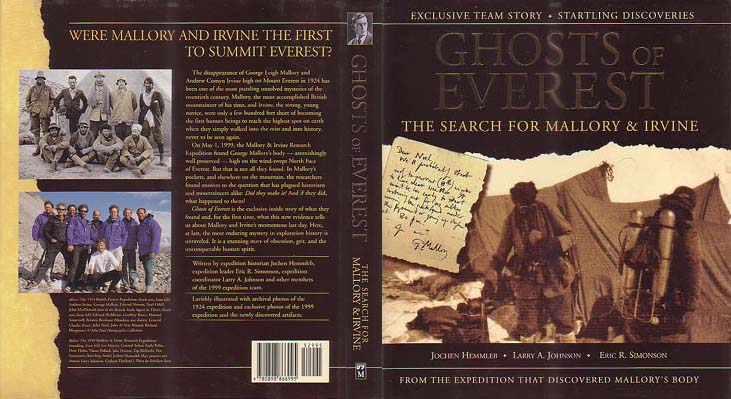 The Ghosts of Everest: The Search for Mallory and Irvine: Hemmleb, Jochen, Larry A. Johnson, & Eric R. Simonson