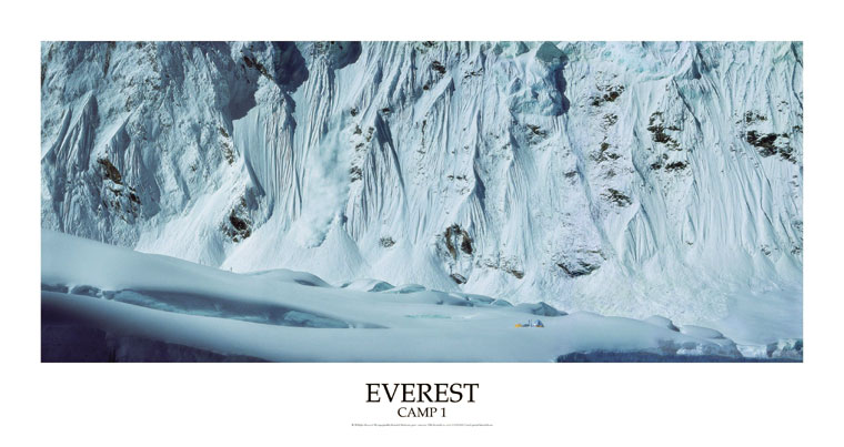 Everest Panorama - Mount Everest Camp One Poster: Mackenzie, Roddy