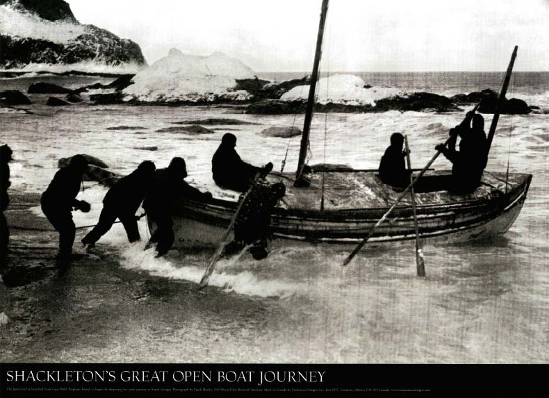 Shackleton's Great Open Boat Journey Poster: Hurley, Frank
