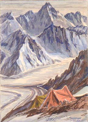 View of Camp V on K2 Poster: Molenaar, Dee