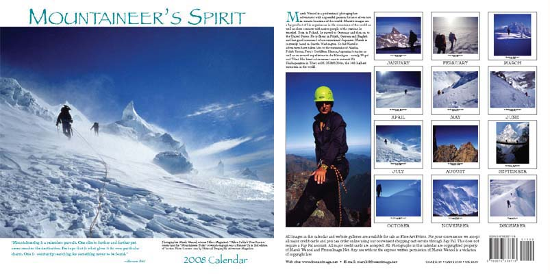 Mountaineer's Spirit 2008 Calendar: