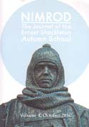 Nimrod: The Journal of the Ernest Shackleton Autumn School. Vol 4: [Shackleton]