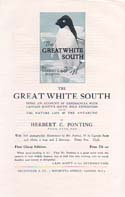 The Great White South Prospectus: Ponting, Herbert G.