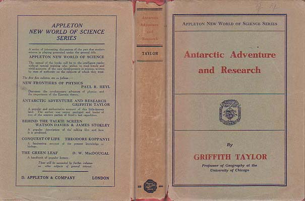 Antarctic Adventure and Research: Taylor, Griffith