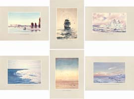 Facsimile Reproductions of Antarctic Watercolours - Set B: Landscapes: Wilson, Edward