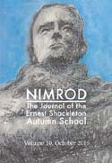 Nimrod: The Journal of the Ernest Shackleton Autumn School. Vol 10: [Shackleton]