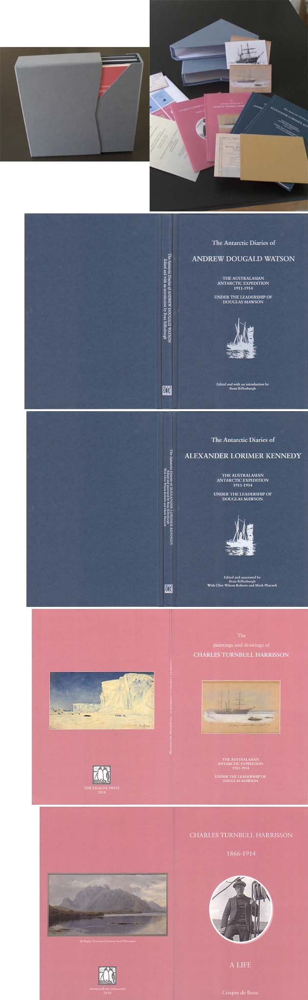 The Antarctic Diaries of Andrew Dougald Watson with The Antarctic Diaries of Alexander Lorimer Kennedy with Charles Turnbull Harrisson: A Life with The Paintings and Drawings of Charles Turnbull Harrisson: Riffenburgh, Beau ed. & de Boos, Crispin