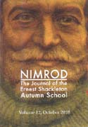 Nimrod: The Journal of the Ernest Shackleton Autumn School. Vol 12: [Shackleton]