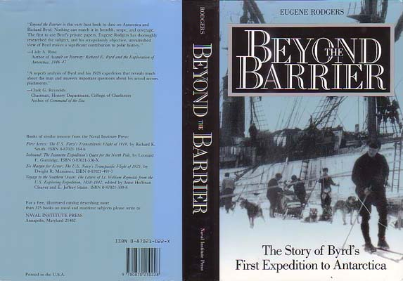 Beyond the Barrier: The Story of Byrd's First Expedition to Antarctica: Rodgers, Eugene